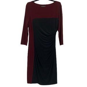 Lauren Ralph Lauren Color Block Long Sleeve Dress